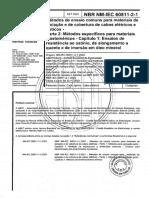 NBRNM-IEC 60811-2-1 - Métodos de Ensaios