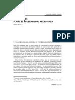 De Riz - Reflexiones sobre el federalismo argentino