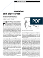 Thermal Insulation and Pipe Stress