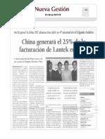 China generará el 25% de la facturación de Lantek en 2013.