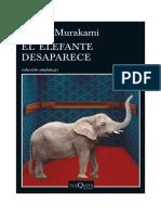 Murakami - El Elefante Desaparece