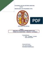 ANALISIS Y ESTUDIOS GEOMECANICOS DEL TÚNELE DE KARKATERA – ABANCAY -APURIMAC