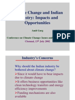 Climate Change - Impact on Indian Industry