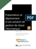 Présentation et déploiement d'une solution de gestion de classe informatique