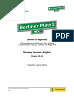 BP2 Neu Glossary German English