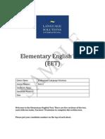 EET Sample Test