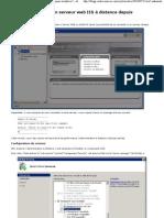 IIS7 - Administrer un serveur IIS à distance