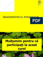 Diagnosticul financiar. Concluziile diagnosticului