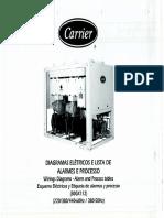 3.15 Chiller - Diagramas Elétricos e Lista de Alarmes e Processos - Carrier