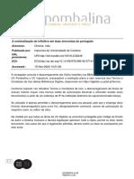 A Nominalização Do Infinitivo Em Duas Sincronias Do Português