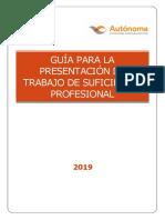 Guia para la presentacion de trabajos de suficiencia 2019