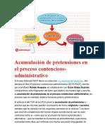 Acumulación de pretensiones en el proceso contencioso