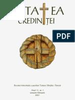 Cetatea Credintei an XI- nr. 1