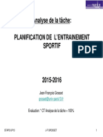 Planification Entrainement - UP13 - JF