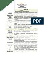 Glosario Auditoría Financiera I