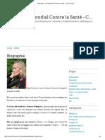Biographie Complot Mondial Contre La Santé Claire Séverac