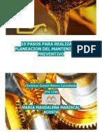 10 PASOS PARA REALIZAR LA PLANEACION DEL MANTENIMIENTO PREVENTIVO