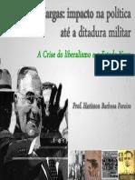 Era Vargas - Impacto na Política até a Ditadura Militar