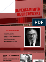 Línea DE PENSAMIENTO DE GROTOWSKY