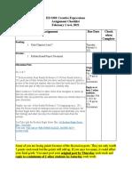 ed 3301 assignment checklist feb 1 week 4