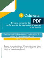Sistema comando de incidentes y conformación de equipos de trabajo en emergencias