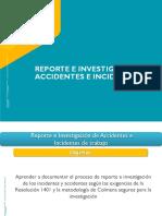 Reporte e investigación Accidente de trabajo