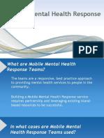 Mobile Mental Health Response Teams