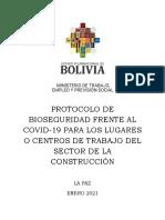 PROTOCOLO BIOSEGURIDAD Covid Construccion