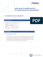 Guia Para La Planificación Curricular Para Secundaria Ingles, EF, Arte, Tutoría Ccesa007