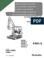 Parts List Catalog Kubota RG248-8139-0_KX61-3