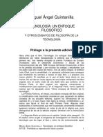 TECNOLOGIA - UN ENFOQUE FILOSOFICO -MIGUEL ANGEL QUINTANILLA