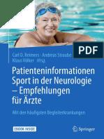 Carl D. Reimers, Andreas Straube, Klaus Völker - Patienteninformationen Sport in der Neurologie – Empfehlungen für Ärzte-Springer Berlin Heidelberg (2018)