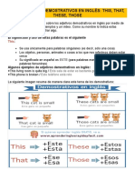 Los Adjetivos Demostrativos en Inglés