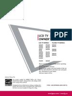 LG 47LG70 Television Manual