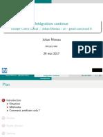 IntegrationContinue Cnrs