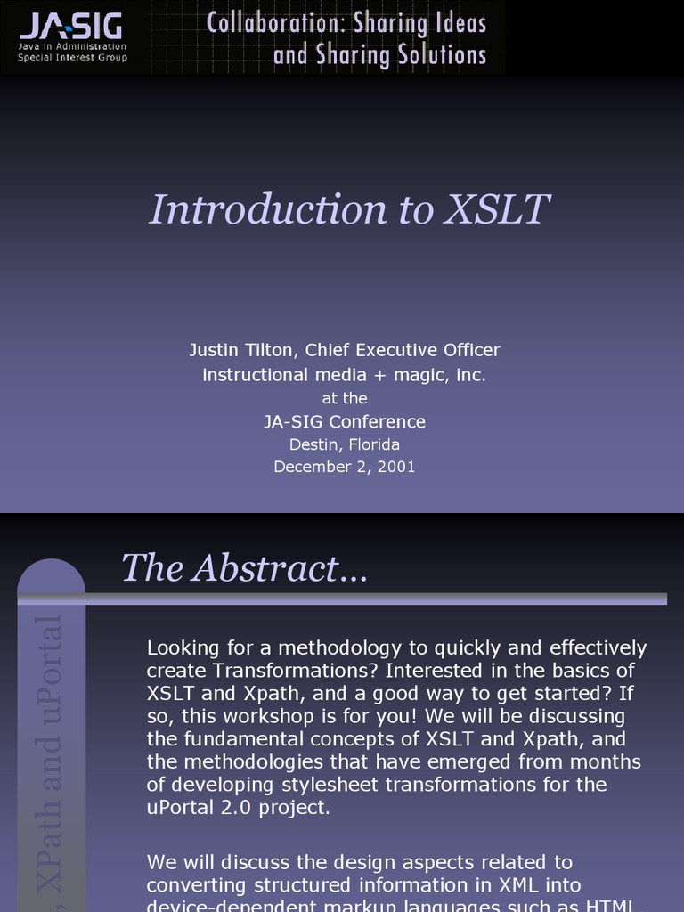 learning xslt a hands on introduction to xslt and xpath