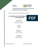 IMPORTANCIA DEL DERECHO EN CONTABILIDAD