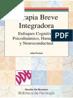 Terapia Breve Integradora Enfoques Cognitivo Psicodinamico Humanista y Neuroconductual
