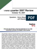 Key Corp 3Q07 Presentation