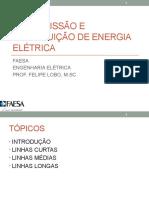 4.1 Modelos de Linhas de Transmissão (linhas médias)