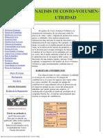 Analisis de Costo - Volumen - Utilidad