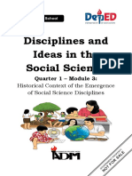 DISS_mod3_Historical Context of the Emergence of Social Science Disciplines