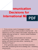Communication Decisions for International Markets-10.02