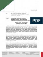 COMUNICADO No PDDI-001-21