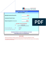 Mutual funds SIP Dynamic Calculations