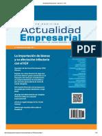 Actualidad Empresarial - Edición N° 375 2DA QUINCENA 05-2017