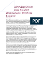 Adams, John. the Building Regulations and Historic Building Requirements