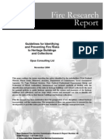 Guidelines for Identifying and Preventing Fire Risk in Heritage Building and Collection