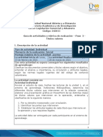 Guía de actividades y rubrica de evaluación Unidad 1 - Paso 2 - Títulos valores