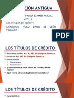 REPASO DE TÍTULOS DE CRÉDITO